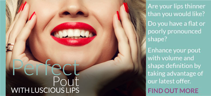Perfect Pout banner lip filler treatment bolton, lip filler treatment manchester